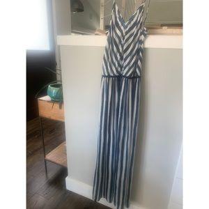 Lou & Grey striped maxi dress, size XS
